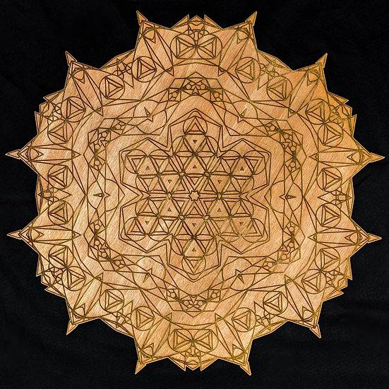 Triangle Mandala Wall Art
