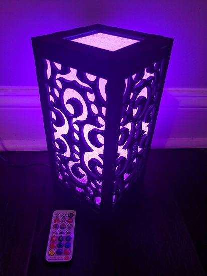 Tipped LED Color Changing Wooden Lantern - KARTH X Planz Visuals