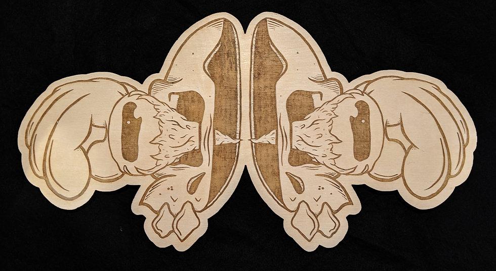 Split Jawnt Wood Print