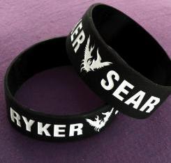 Black + White Wristband