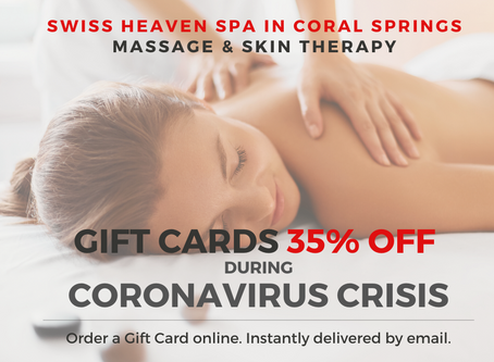 35% Off on Gift Cards due to Coronavirus Crisis