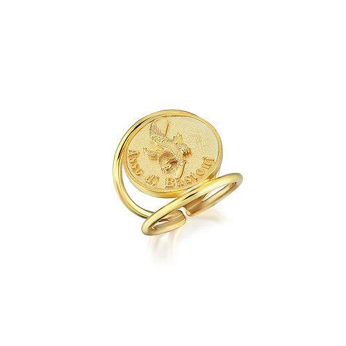 Asso di Bastoni Coin Ring