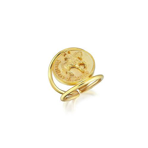 Cavaliere Di Coppe Coin Ring