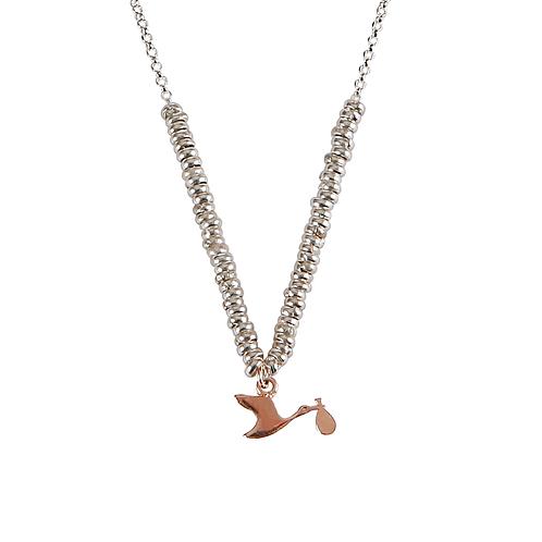 Glossy Stork Necklace