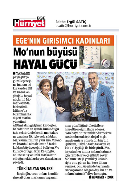 Mo is taking attention by the press / Hürriyet