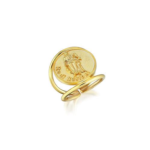 Re di Bastoni Coin Ring