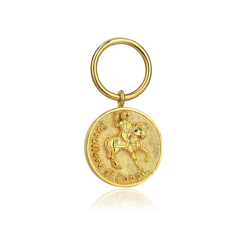 Cavaliere Di Coppe Coin Earring
