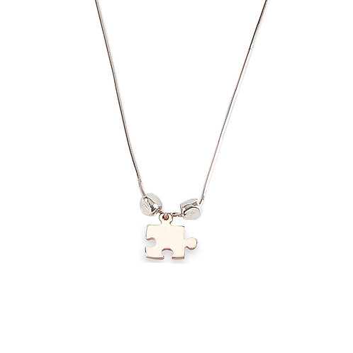 Shiny Puzzle  Necklace