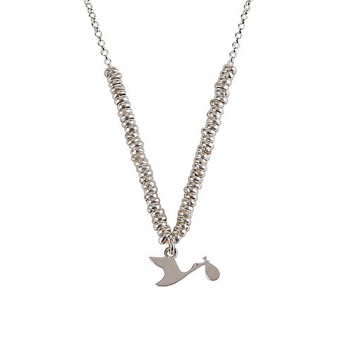 Glossy Stork Necklace
