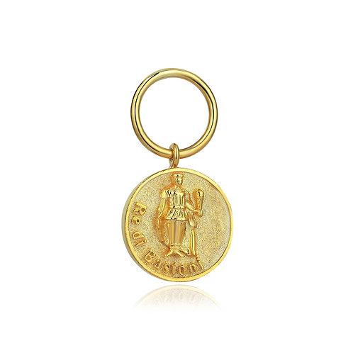 Re di Bastoni Coin Earring