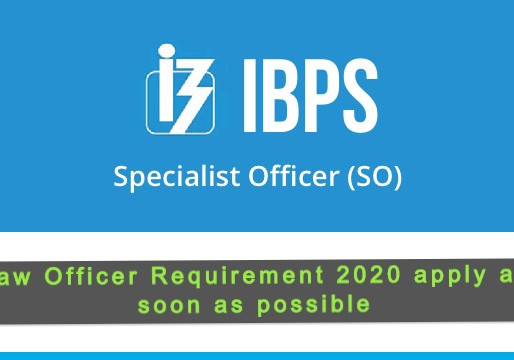 IBPS opportunity Law Officer Requirement 2020 apply by 9/11/2020.