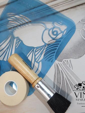 Stenciling with Vintage Market & Design