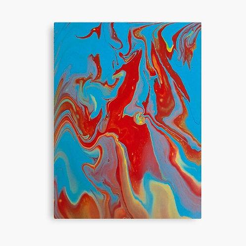 Blue Unicorn Canvas Wall Art