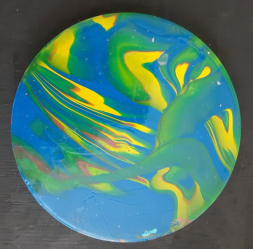 Acrylic Ceramic Coaster - Yvette