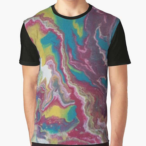 Pink Lightning Graphic T-Shirt
