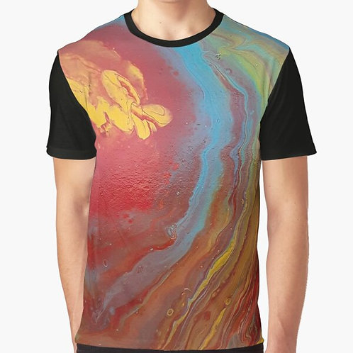 Yellow Butterfly Graphic T-Shirt