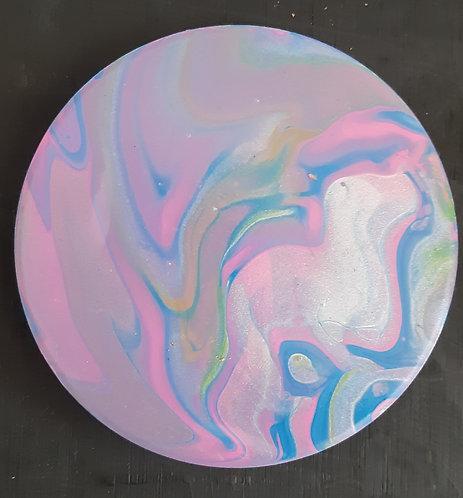 Acrylic Ceramic Coaster - Clara