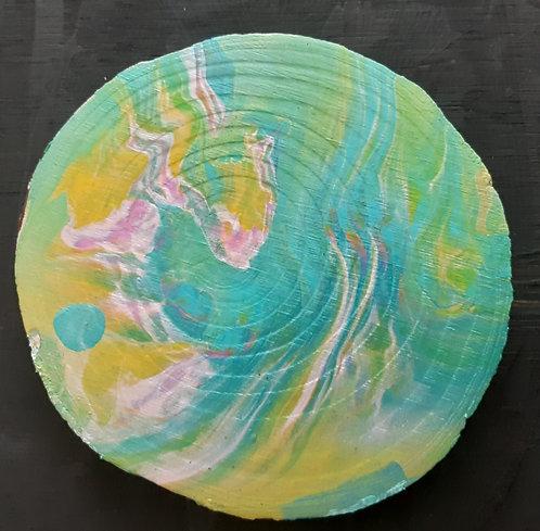 Acrylic Wooden Coaster - Nadia