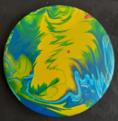 Acrylic Ceramic Coaster - Gabrielle