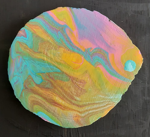 Acrylic Wooden Coaster - Leola