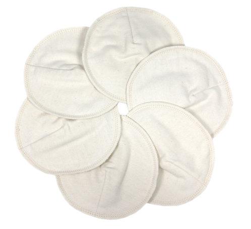 Coppette assorbilatte in cotone, 3 paia