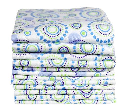 salviette lavabili in cotone organico