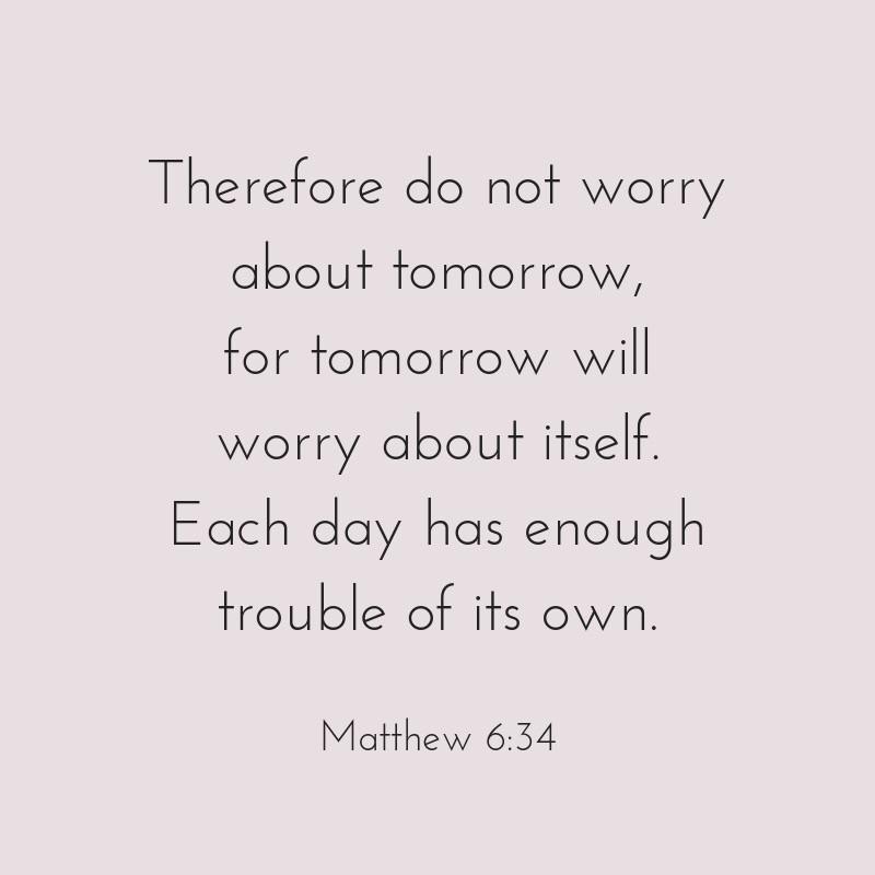 scripture Matthew 6:34