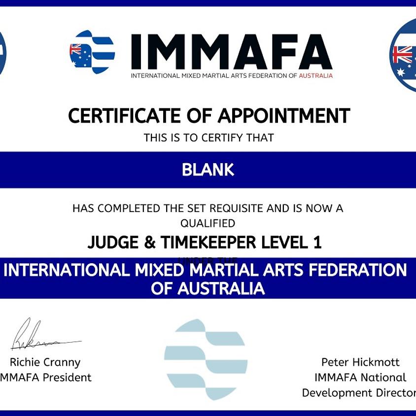 IMMAFA OFFICIALS COURSE - QLD