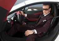 D Cardozo Burgandie Suit Man Dbl 16 x 11