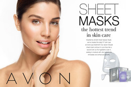 Avon Sheet Mask Ad Part 2 Greta 18 x 12