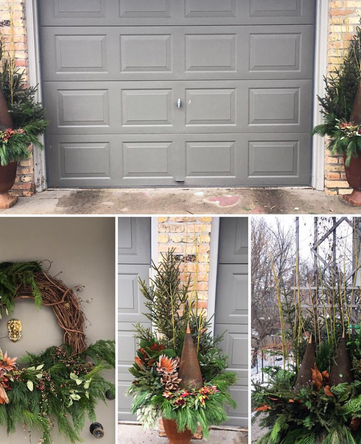wreaths and pots