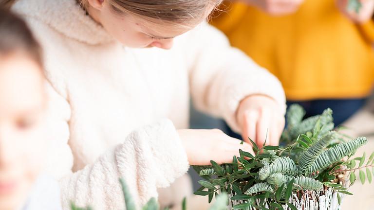 Youth Class: Winter Wonderland Snowman - Floral Arranging