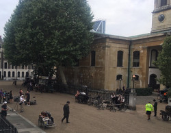 Filming in Trinity Church Square