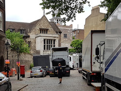 Filming at The Charterhouse in North