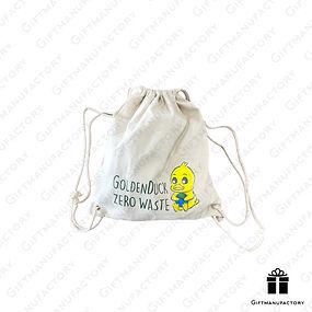 ถุงผ้าดรอสตริง Eco-friendly Drawstring Bag ถุงผ้ารักษ์โลก ของพรีเมี่ยมรักษ์โลก สั่งทำถุงผ้าพร้อมสกรีนโลโก้ ของพรีเมี่ยม ของพรีเมียม