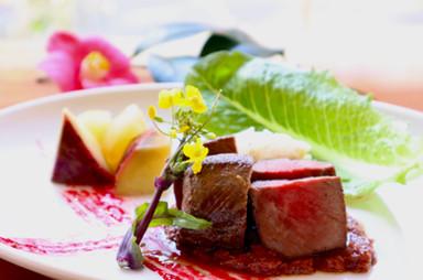 鹿ロースのロースト-赤ワインソース- Roast venison-vin rouge-