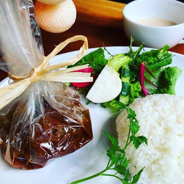 Gigt from deep mountains-Stewed hamburger stake-  奥山からの贈り物-煮込みハンバーグ-