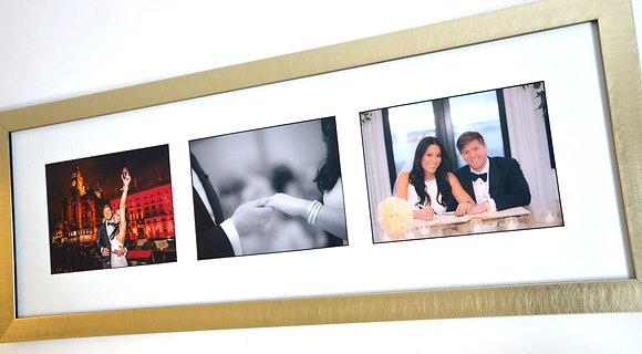 """Three 7"""" x 5"""" hand framed photographs with bevel cut mount & 'Ultra View' glass"""