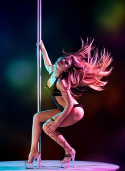 Pole Dancer in Action