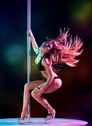 Pole Dancer in Action