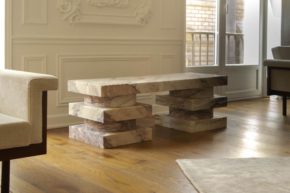 Pierre Gonalons - design - banc marbre 2