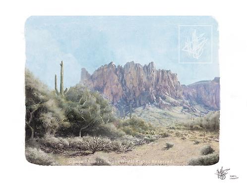 "Lost Dutchman Trail (11x14"")"