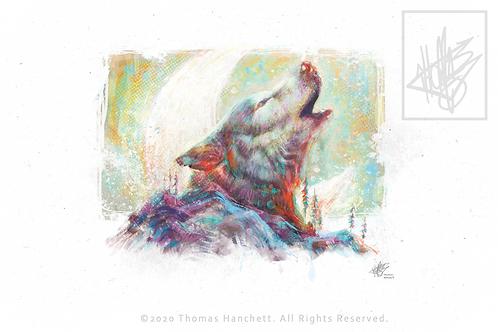 "Wolf Postcard Matte (6x4"")"