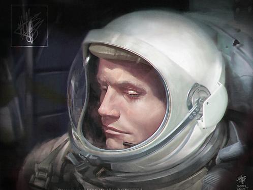 "Neil Armstrong - Gemini 8 (11x14"")"