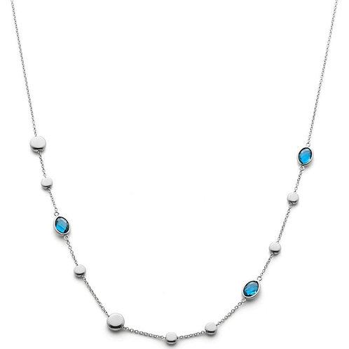 Halsband 18k London Blå Topaser