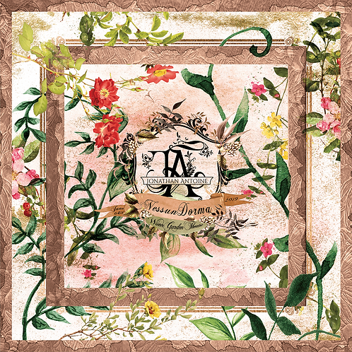 Nessun Dorma Botanical Scarf with Storybook Monogram