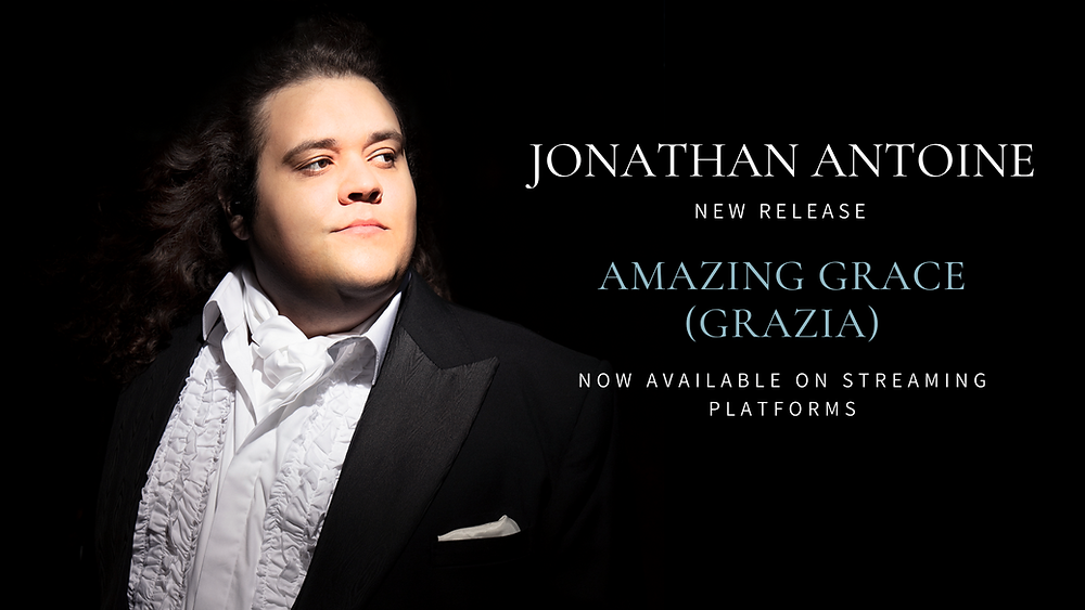 Jonathan Antoine image and Announcing release of track Amazing Grace (Grazia) from upcoming album ChristmasLand