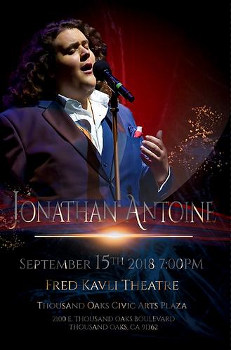 Jonathan Antoine Fred Kavli Event Poster