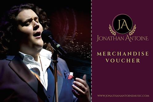 Jonathan Antoine Merchandise Voucher