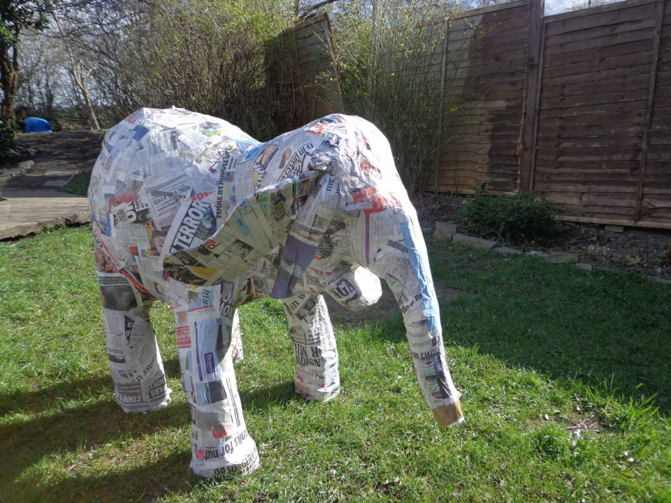 Holly the papier marche ELEPHANT